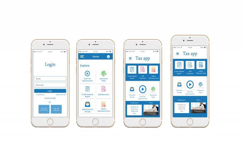 واجهات المستخدم لتطبيقات الهواتف